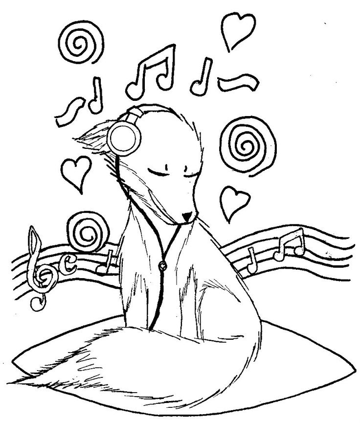 this dog listening to music coloring pages for kids printable music coloring pages for kids