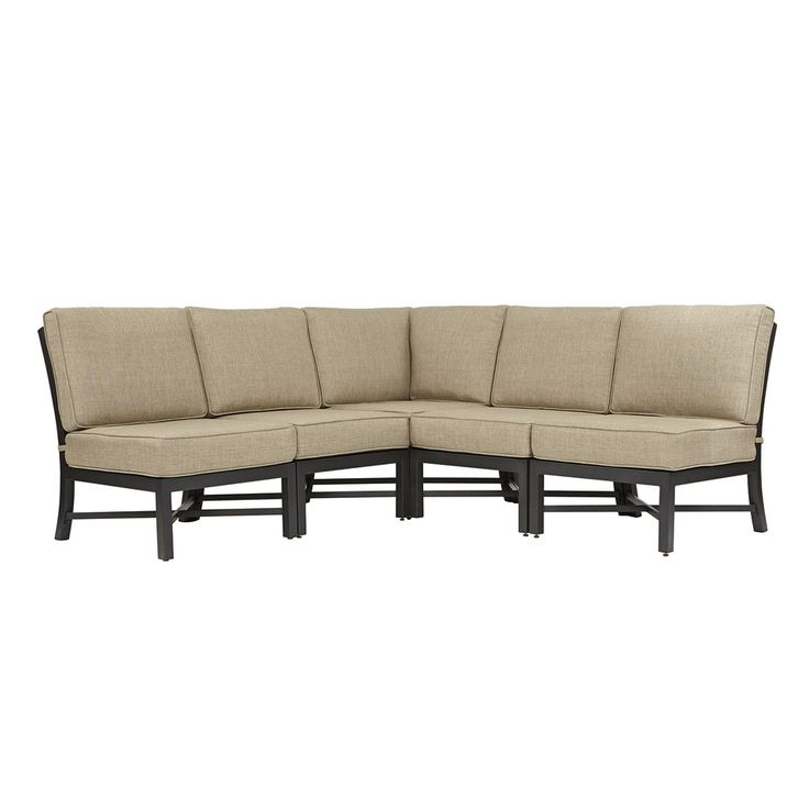 $598 Shop Garden Treasures 5 Piece Palm City Steel Cushioned Patio  Sectional Furniture Set At