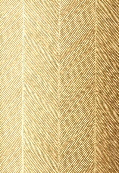 Gold Herringbone Wallpaper by F. Schumacher & Co.