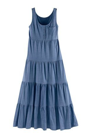 Vestido de malha, azul jeans