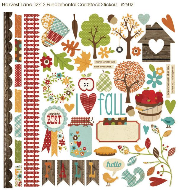 Simple Stories Harvest Lane Collection #scrapbooking #chashow