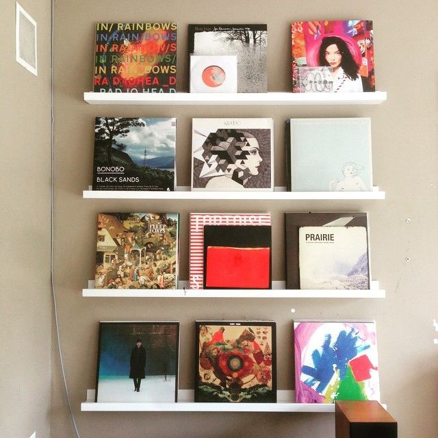 Great ways to display my husband's record collection - 25+ Best Ideas About Record Wall On Pinterest Record Wall Art