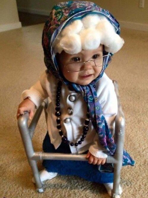 DIY Little Girl or Toddler Costume | Old Lady