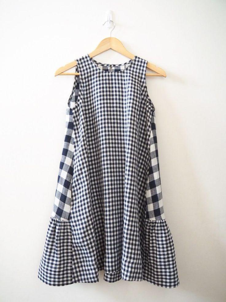 Vogue 9237 :: Double linen, double gingham – Sew Tessuti Blog