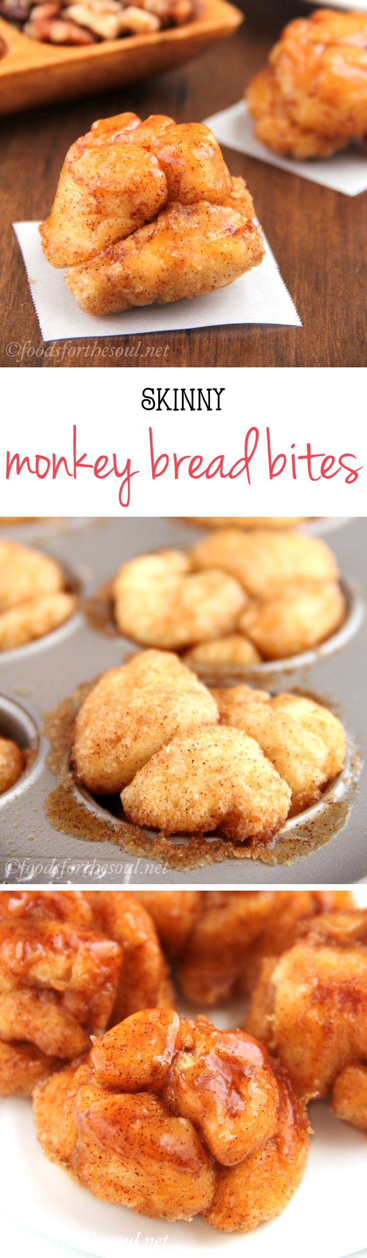 Skinny Monkey Bread Bites -- a guilt-free version of the classic favorite! Only 99 calories! | easy monkey bread recipe | monkey bread muffins | monkey bread without bundt pan
