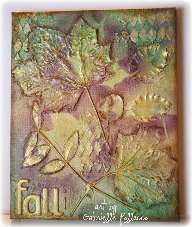 Autumn Mixed Media Canvas {Shimmerz Video Tutorial}