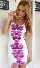 Платье лето, европейский горячая сексуальный принт приталенный пакет хип использовать элегантный фиолетовый цветок с низким вырезом на спине(China (Mainland))