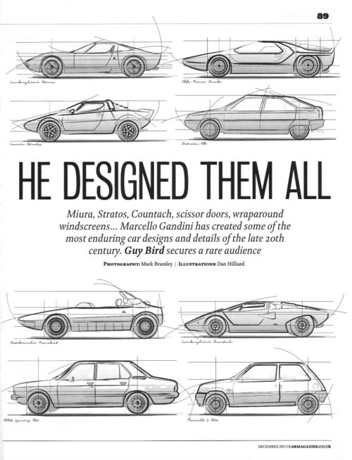 Marcello Gandini: one of the best italian car designer