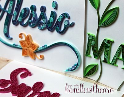 """Check out new work on my @Behance portfolio: """"Quilling Lettering"""" http://be.net/gallery/47198129/Quilling-Lettering"""