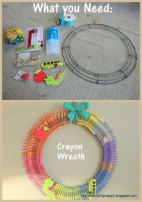 Teacher Appreciation Gift Idea ... Crayon Wreath
