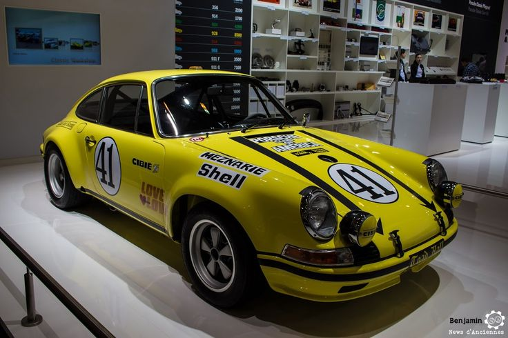 #Porsche #911 ex 24h du Mans 1972 au salon #TechnoClassica Essen reportage complet : http://newsdanciennes.com/2016/04/11/techno-classica-essen-reportage-plus-grand-salon-deurope/ #ClassicCar #VintageCar #Voiture #Ancienne