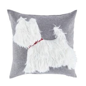 Tesco Scotty Dog Cushion from Tesco AW14 #grey #dog #cute #relief #soft #scotty