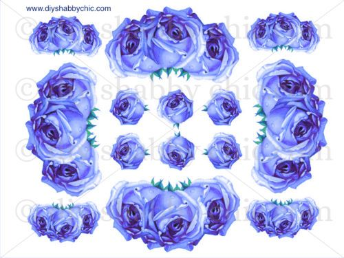 FRENCH-FURNITURE-DECAL-DIY-SHABBY-CHIC-IMAGE-TRANSFER-VINTAGE-BLUE-ROSES-FLOWER