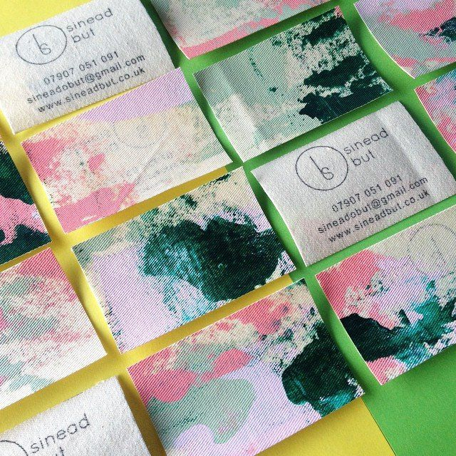 Sinead But- Hand Painted Business cards