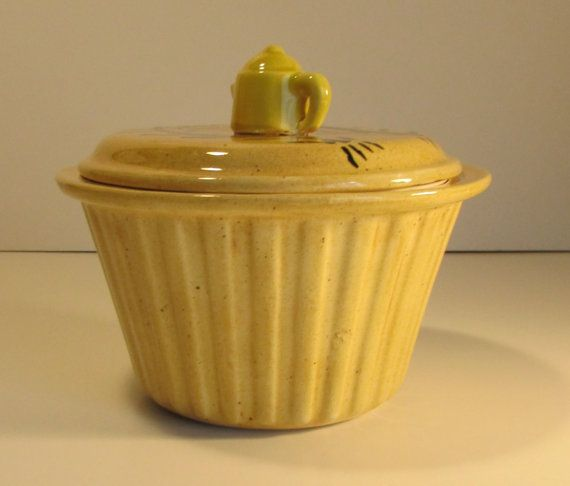 Coffee Filter Holder Yellow Ceramic By Littlecabintreasures