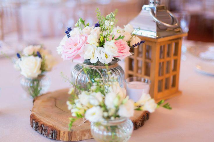 wedding arrangement, flowers, lantern