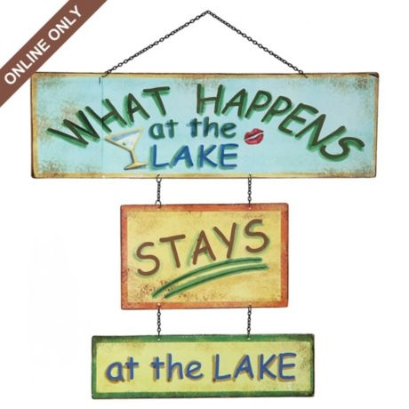 What happens At The Lake STAYS at the lake #kirklands #thoughtsforthehome
