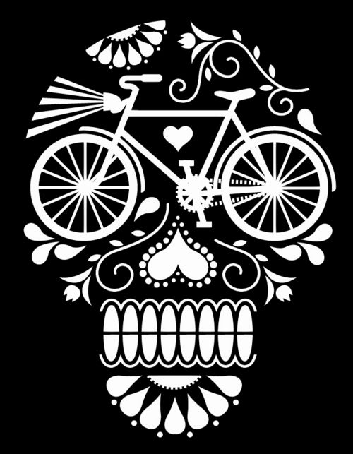 Dias de los muertes bicicletta
