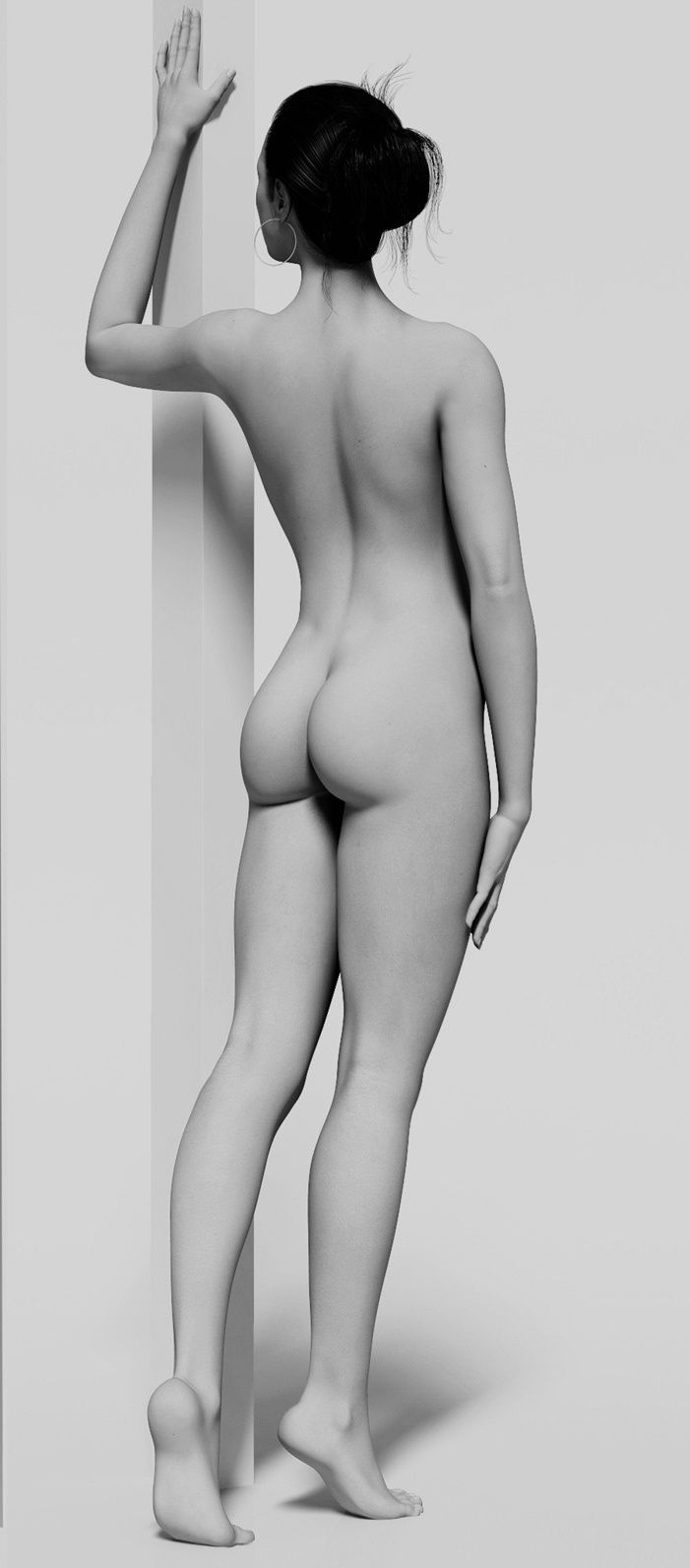 Nude Model Full Figure Poses 17