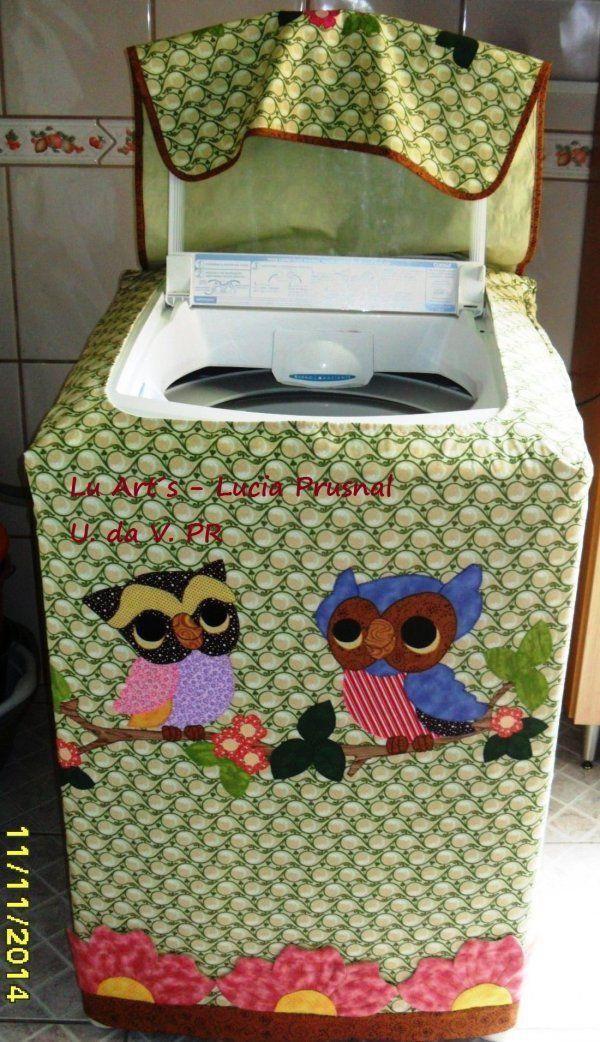 """Lu Art""""S - Capa para máquina de lavar roupa Consul 8kg"""