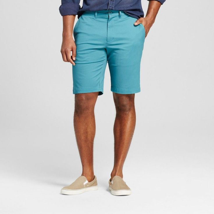 Men's Club Shorts 10.5 Turquoise 40 - Merona