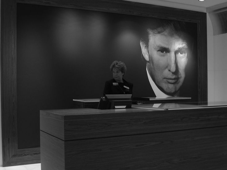 Picture of Donald Trump at the Trump Exchange at the Trump Taj Mahal 2. Photo by iirraa on Flickr.
