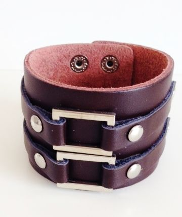 Leather bracelet by Kokomoi.nl Johnny Depp style.