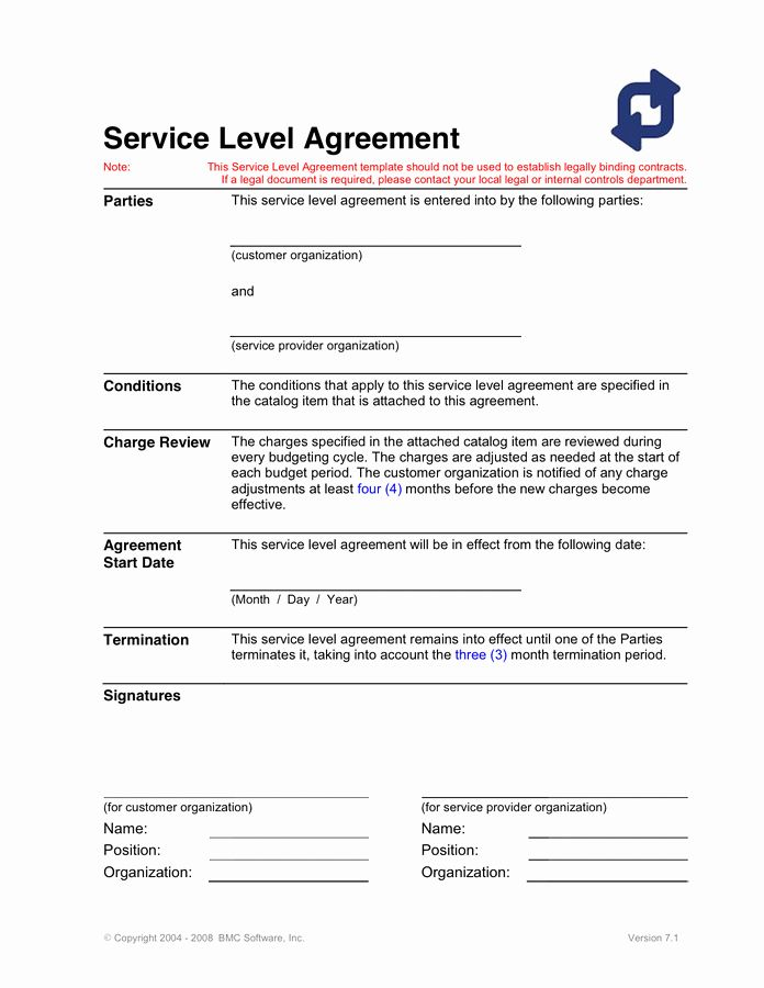 40 Service Agreement Template Word Markmeckler Template Design Service Level Agreement Template Design Templates Free Design
