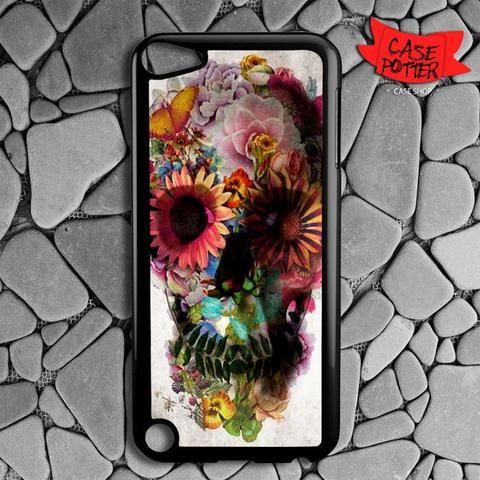 Floral Skull iPod 5 Black Case