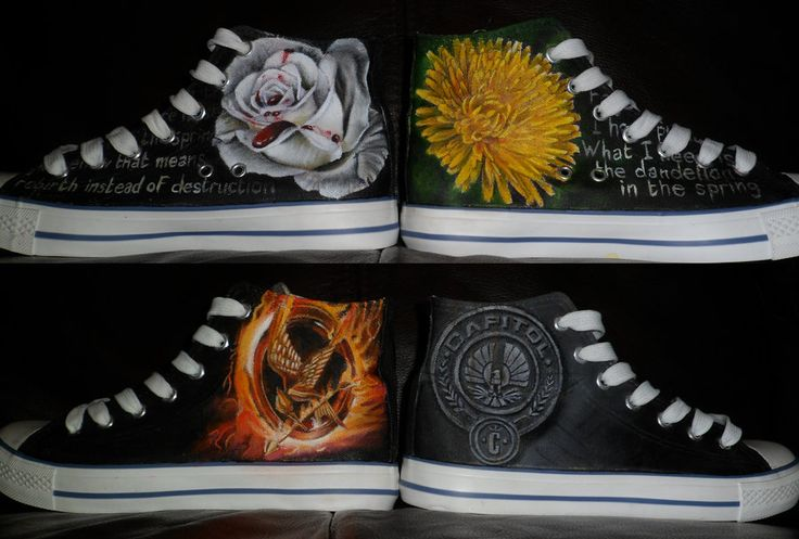 Hunger Games hand-painted Converse.