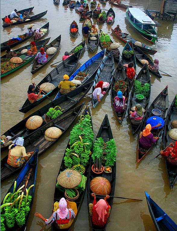 Floating Market, Banjarmasin, Indonesia     Photograph by Hary Muhammad