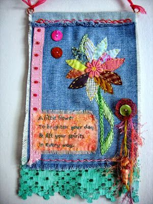 "The Prayer Flag Project ""A little flower to brighten your day. To lift your spirits in every way"""