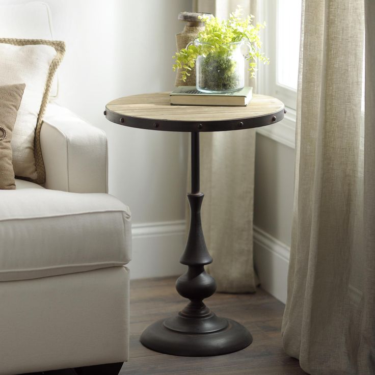 Your Media Room Is Not Complete Without Side Tables Rustic And Industrial Everyone In