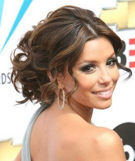 loose curly messy updoHair Ideas, Evalongoria, Long Hair, Wedding Updo, Prom Hair