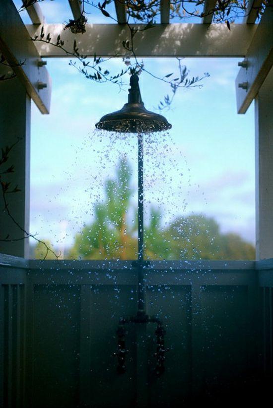 Dusche Im Freien Selber Bauen : au?endusche selber bauen im freien duschen im sommer