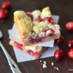 Minimal Monday: Fresh Cranberry Bars