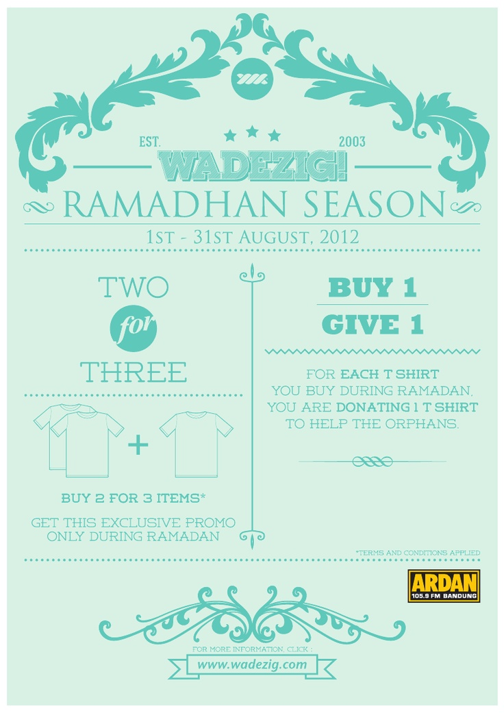 Wadezig advertising for ramadhan edition. #typography #design #charity