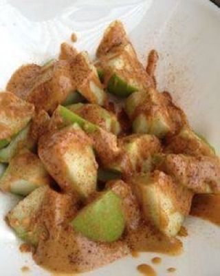 Below is one of my favorite Paleo snacks of ALL TIME for when my sweet tooth strikes. Cut up a green apple into cubes. Microwave 2 tbsp of almond butter and drizzle some over the top. Drizzle with 1 tsp of honey and cinnamon!