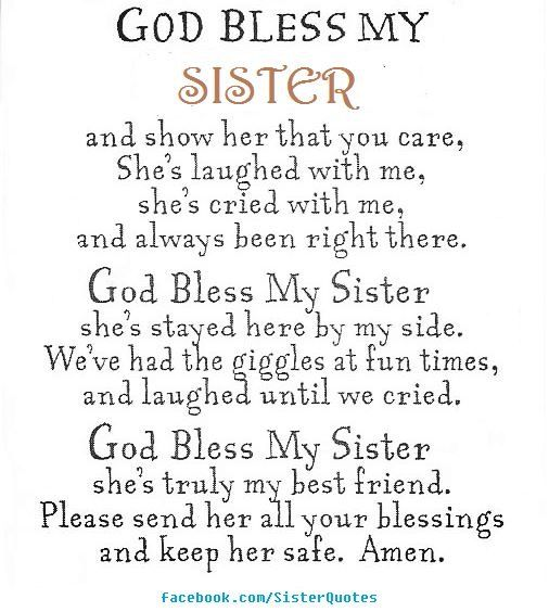 Prayer For My Sister Quotes Awesome 364 Best Sisters Images On Pinterest  Anniversary Cards Birthdays . 2017