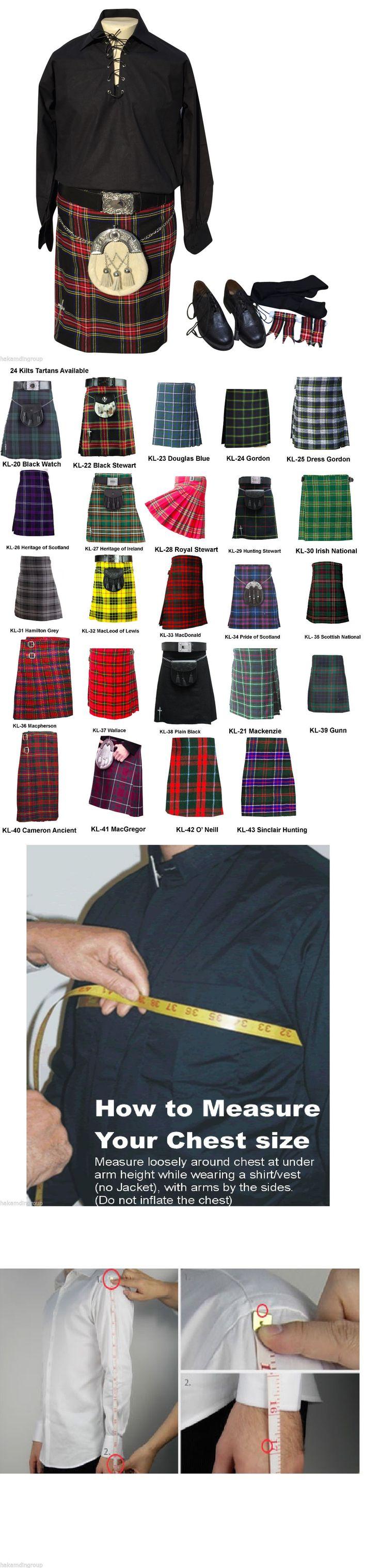 Kilts and Sporrans 112424: 10 Pcs Kilt Outfit, Jacobite Shirt, Kilts, Kilt Belt, Kilt Pin, Sporran, Ghillie -> BUY IT NOW ONLY: $165 on eBay!