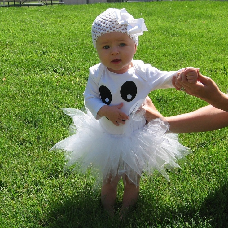 Absolutely Adorable Ghost Halloween Costume Onesie. $12.50, via Etsy.