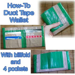 Duct Tape Wallet for Faux Dori! Just use punch to center top/bottom for elastics
