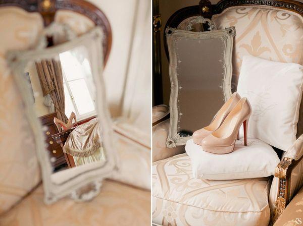 бежевые свадебные туфли #wedding #shoes