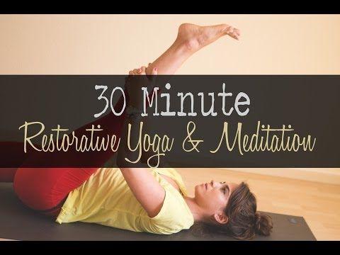 30 Minute Restorative Yoga and Meditation Video — YOGABYCANDACE