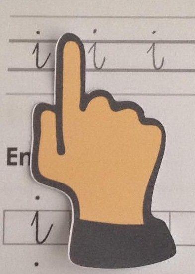 Le doigt plastifié pour gérer l'espace entre deux lettres - Chez maîtresse Ecline