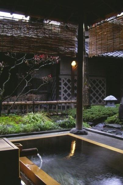 hot spring in Japan