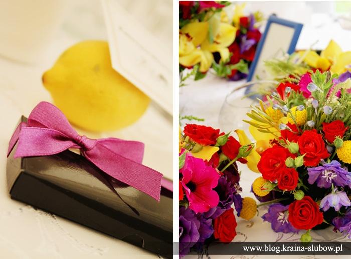 Wedding table centerpiece, wedding favor, lemons / Kraina Ślubów / fot. Ewa Wardęga