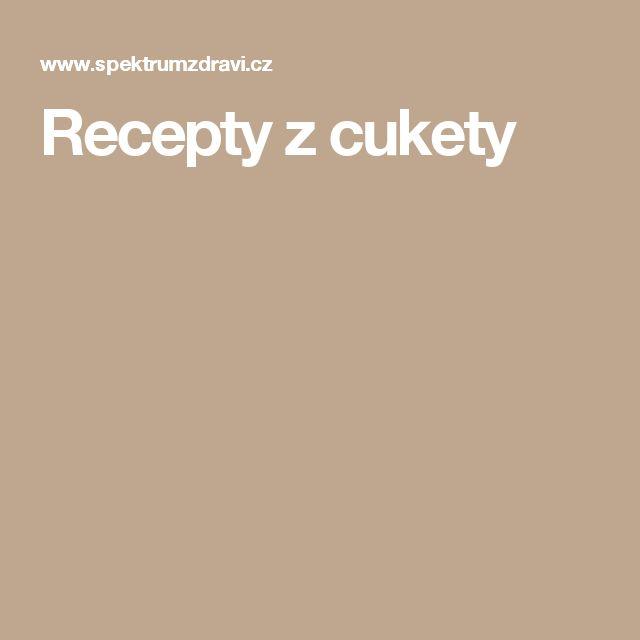 Recepty z cukety