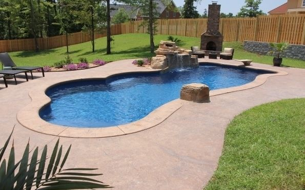 Fiberglass Pool Ideas diy the inground swimming pool kits amazing swimming pool with stylish fiberglass pool kits do it Synergy Model Fiberglass Pool With Rico Rock Waterfall By Dolphin Poolsof West Monroe Louisiana El Dorado Arkansas Fiberglass Pools Pinterest