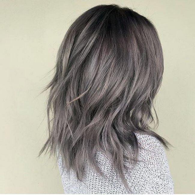 темно пепельный цвет волос фото